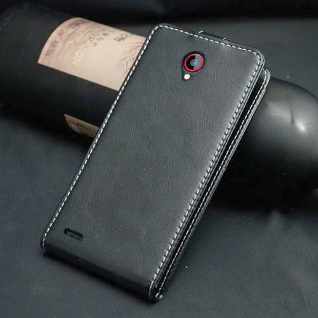 Pierves Luxury Card Slot Flip Cover PU Leather Case For Philips S337