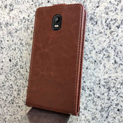 Pierves Luxury Card Slot Flip Cover PU Leather Case For Vertex Impress Groove