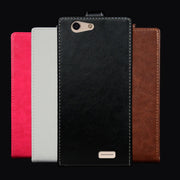 Pierves Luxury Card Slot Flip Cover PU Leather Case For Vertex Impress Lion 3G 4G