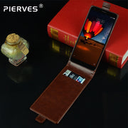Pierves Luxury Card Slot Flip Cover PU Leather Case For ZTE BLade V9 Vita