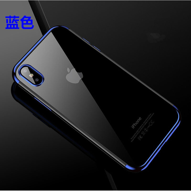 Plating Clear Cover For Huawei Nova 3 3i Y5 Y7 Prime Y9 2018 2019 Honor 7A  Pro 7X 8 8C 8X 9 Lite View 10 Play Luxury Soft Case