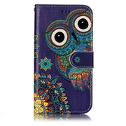 Printing Leather Case For Samsung Galaxy A5 A3 2017 Cover Lion Owl Wolf Tiger PU Flip Phone Cases For Samsung J3 2016 J2 Prime