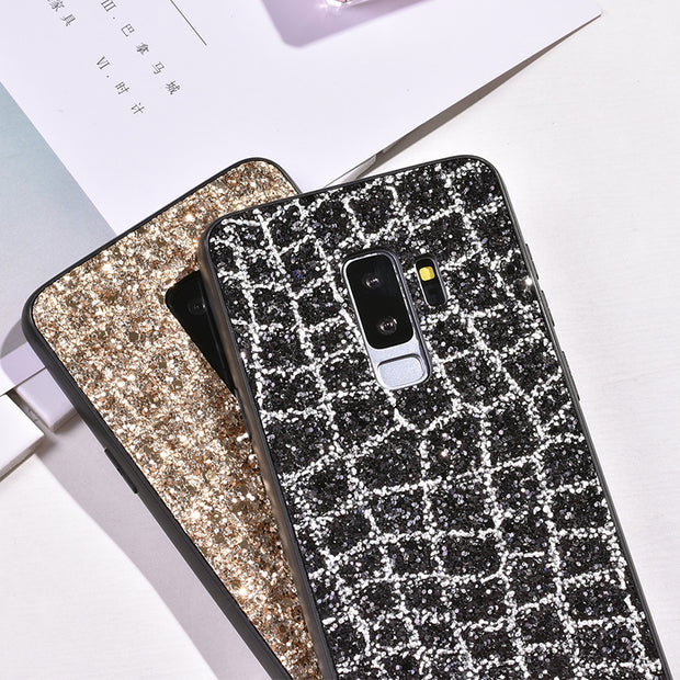 ProElite For Samsung Galaxy S9 Plus S9 Shining Bling Diamond Soft Silicone Phone Cases Sequins Rhinestone Back Protective Cover