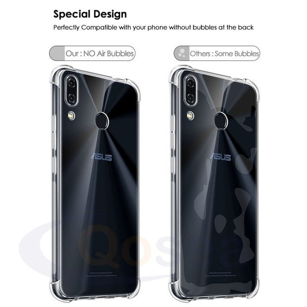 Qosea For ASUS Zenfone 5 ZE620kl Case Transparent Slim Soft Silicone TPU Skin For ASUS ZenFone 5 ZS600KL Phone Protective Cover