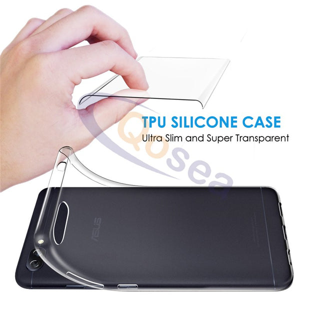 Qosea For Asus Zenfone 4 Max ZC520KL Case Transparent Anti-knock Silicone Ultra Soft Crystal TPU Zenfone 4 Protective Back Cover