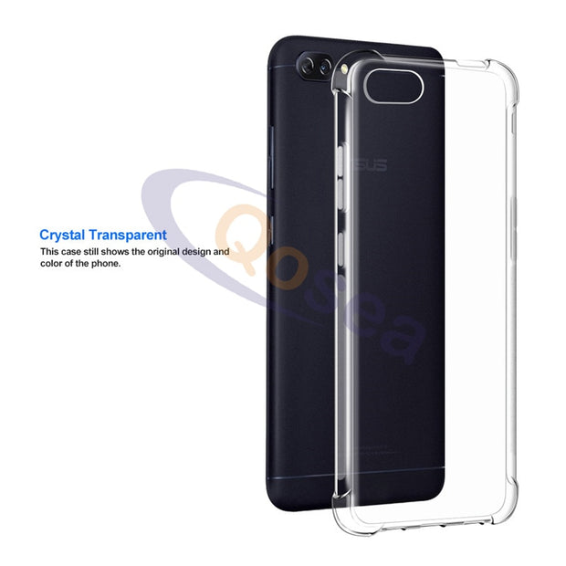 Qosea For Asus Zenfone 4 Max ZC520KL Case Transparent Slim Soft Silicone TPU Skin Zenfone 4 MAX Airbag Phone Protective Cover