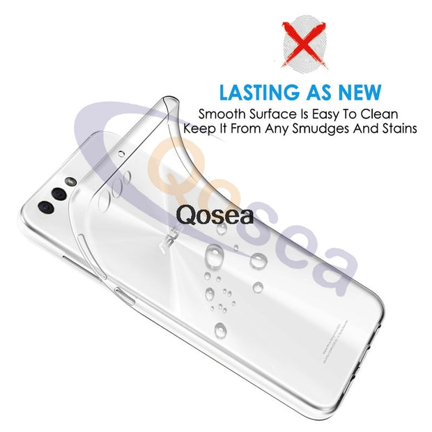 Qosea For Asus Zenfone 4 ZE554KL Case Transparent Slim Silicone Soft Clear TPU Skin Zenfone 4 Max ZE554KL Protective Back Cover
