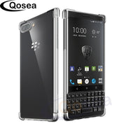 Qosea For Blackberry Key 2 Case Transparent Slim Soft Silicone Clear TPU Skin For Blackberry KEY2 Airbag Protective Cover