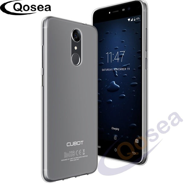 Qosea For Cubot Note Plus Case Luxury Ultra Thin Translucent Slim Silicone Soft TPU For Cubot Note Plus Phone Protective Cover