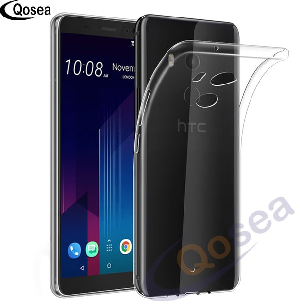 Qosea For HTC U11 Plus Case Luxury Ultra-thin Clear Slim Silicone Soft TPU For HTC U11 Plus Transparent Protective Phone Cover