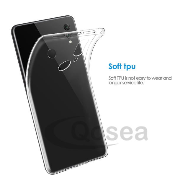 Qosea For Huawei Honor Note 10 Case Transparent Slim Soft Silicone Clear TPU Skin For Huawei Honor Note 10 Airbag Cover