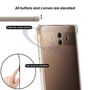 Qosea For Huawei Mate 10 Case Transparent Slim Soft Silicone Ultra Clear TPU Skin For Huawei Mate 10 Airbag Protective Cover