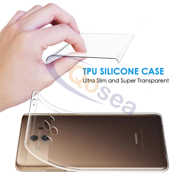 Qosea For Huawei Mate 10 Case Transparent Luxury Anti-knock Silicone Ultra-thin Soft TPU For Huawei Mate 10 Protective Cover