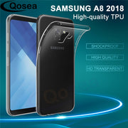 Qosea For Samsung Galaxy A8 2018 Case Transparent Slim Silicone Soft TPU For Samsung A8 Plus 2018 Protective Back Phone Cover
