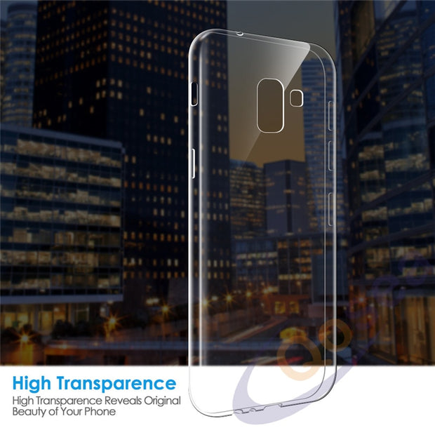 Qosea For Samsung Galaxy A8 2018 Case Ultra Thin Transparent Slim Silicone Soft TPU For Samsung A8 Plus 2018 Protective Cover