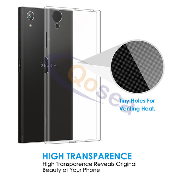 Qosea For Sony Xperia XA1 Plus Case Transparent Anti-knock Silicone Ultra Clear Soft TPU For Xperia XA1 Plus Protective Cover
