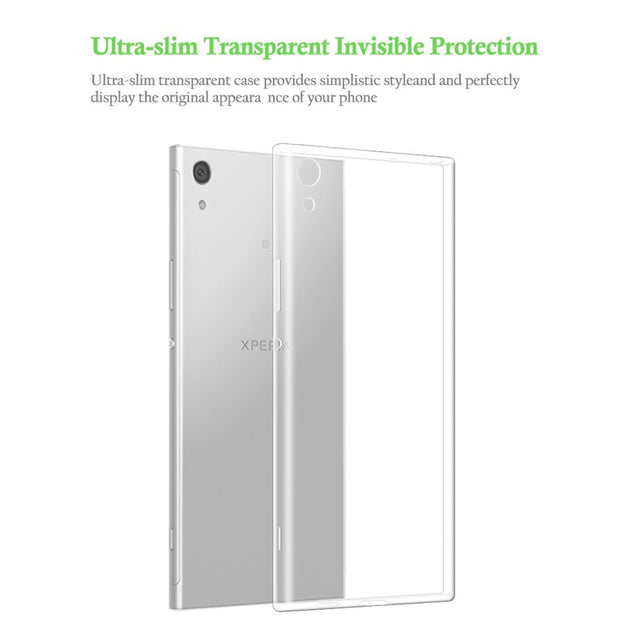 Qosea For Sony Xperia XA1 Ultra Phone Case Slim Silicone Ultra-thin Transparent Soft TPU For Xperia XA1 Protective Cover Coque