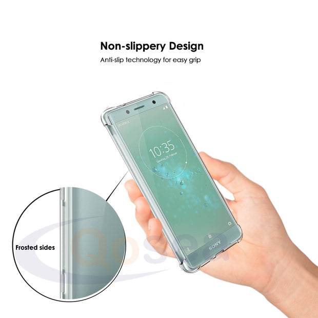 Qosea For Sony Xperia XZ2 Compact Case Transparent Slim Soft Silicone TPU Skin For Sony Xperia XZ1 XZ2 Airbag Protective Cover
