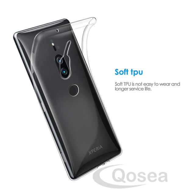 Qosea For Sony Xperia XZ2 Premium Case Slim Silicone Ultra-thin Transparent Soft TPU Protective For Sony XZ2 XZ1 Compact Cover