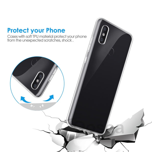 Qosea For Xiaomi Mi 8 Mi8 Case Transparent Slim Soft Silicone Ultra Thin Clear TPU Skin For Xiaomi Mi 8 Mi8 Airbag Phone Cover