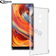 Qosea For Xiaomi Mi Mix 2 Case Transparent Slim Soft Silicone Ultra Clear TPU Skin For Xiaomi Mi Mix2 Airbag Protective Cover