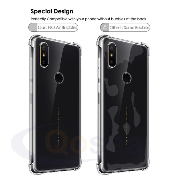 Qosea For Xiaomi Mi Mix 2S Case Ultra-thin Clear Transparent Slim Soft Silicone TPU Skin For Xiaomi Mi Mix 2S Protective Cover