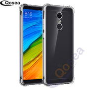 Qosea For Xiaomi Redmi 5 Case Transparent Slim Soft Silicone Ultra Clear TPU Skin For Xiaomi Mi 5 Plus Airbag Protective Cover