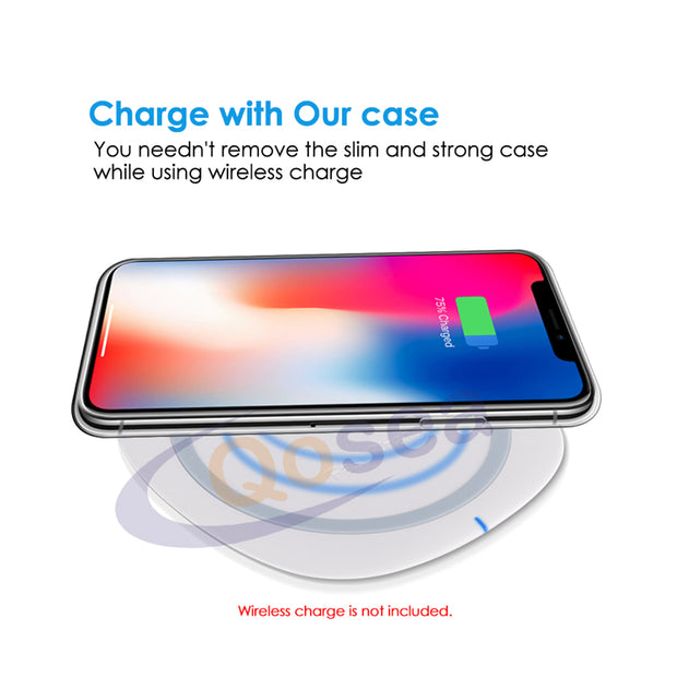 Qosea For IPhone X 10 Case Ultra-thin Transparent Slim Silicone Soft TPU Skin For IPhoneX 7 8 PLUS Protective Ultra Clear Cover