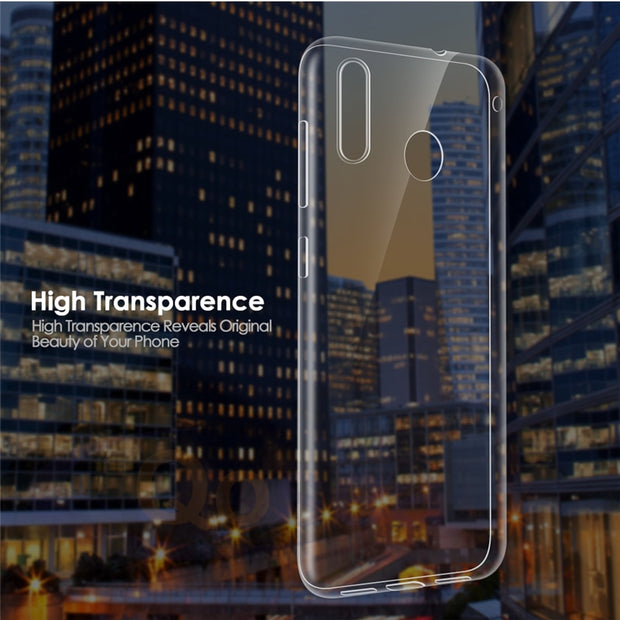 Qosea Phone Case For ASUS ZenFone Max M1 ZB555KL Case Transparent Slim Silicone Soft TPU ZenFone Max M1 ZB555KL Protective Cover