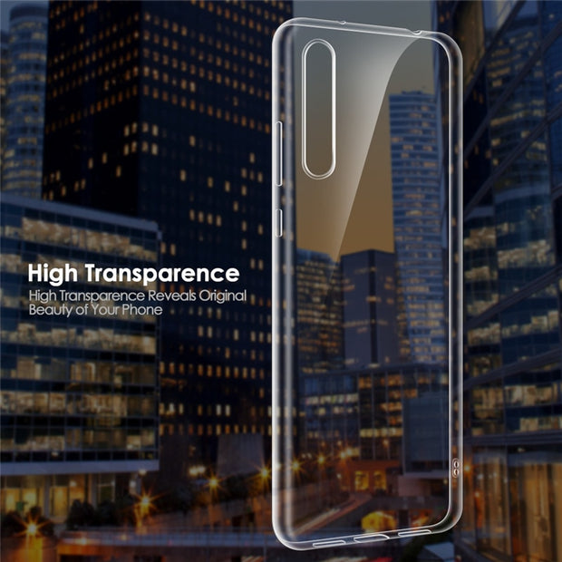 Qosea Phone Case For Huawei P20 Pro Case Clear Transparent Slim Silicone Soft TPU For Huawei P20 Lite Protective Cover Fundas
