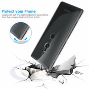 Qosea Phone Case For Sony Xperia XZ2 Compact Case Transparent Slim Silicone Soft TPU For Sony Xperia XZ2 Protective Back Cover