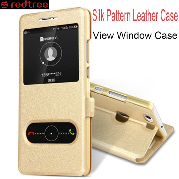 REDTREE Silk Pattern Case For Samsung Galaxy Grand Prime G530 Flip Cover View Window Leather Case For Core Prime G360 G550 G710