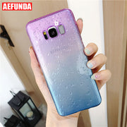 Raindrop Gradient Phone Case For Samsung Galaxy S8 S9 Plus Note 8 J3 J5 J7 Pro 2017 Water Drop TPU Cover Silicone Clear Cases