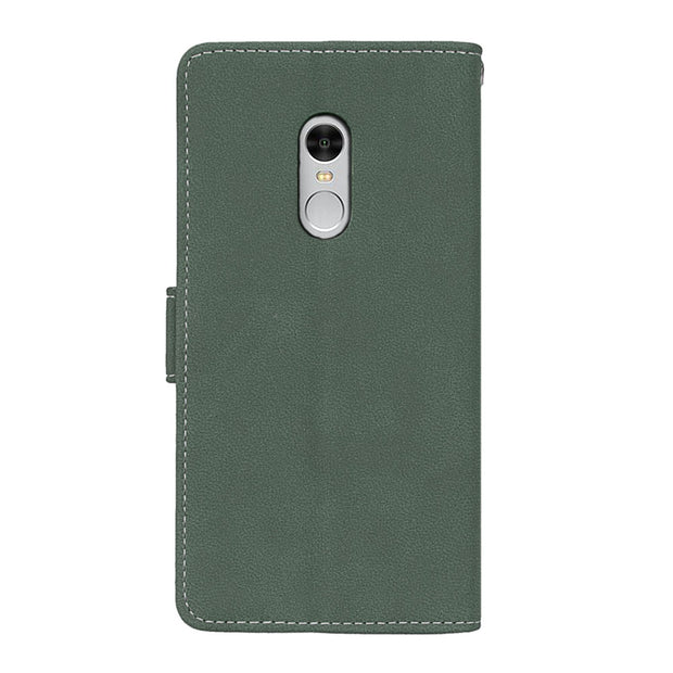 Retro Matte Leather Case For Xiaomi Redmi Note 4 Cover Filp Stand Classical PU Wallet Photo Frame Card Slot Mobile Phone Bags