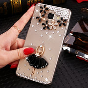 "Rhinestone Case For Samsung Galaxy A5 2017 A520 A520F SM-A520F Case Luxury PC Hard Case Cover For Samsung (A5 2017) 5.2"" NOT A5"