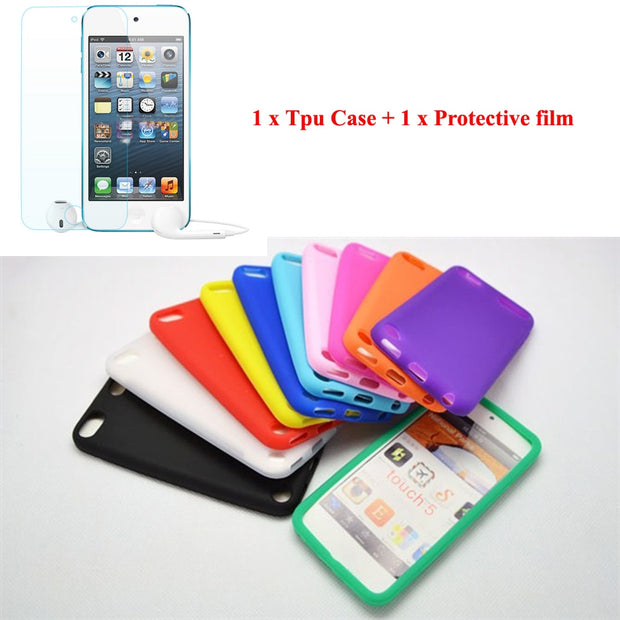Running Camel Soft Skin TPU Rubber Cover Case For IPod Touch 5 5G 5th For IPod Touch 6 Generation + Clear Protector Film