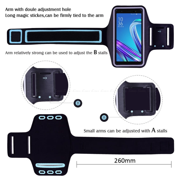Running Cycling Sport Phone Bag Cover For Asus ZenFone V Live L1 ZB553KL ZB501KL V500KL V520KL ZA550KL G500TG Arm Band Case