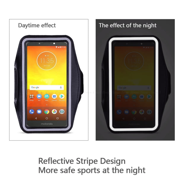 Running Cycling Sport Workout Phone Holder Bag Cover For Motorola Moto E4 E5 E3 Power X Force Style Play M C Plus Arm Band Case