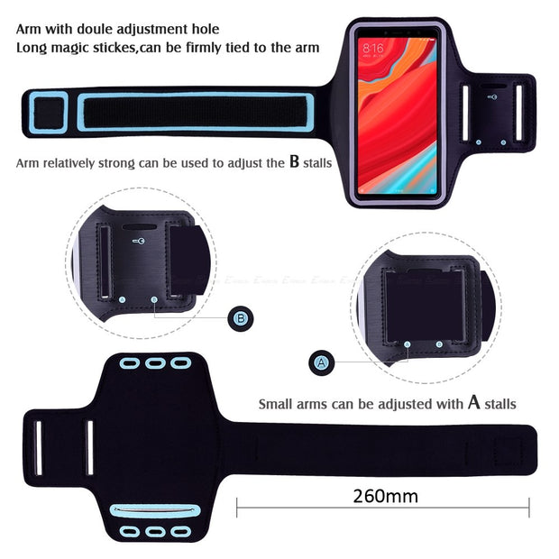 Running Cycling Sport Workout Phone Holder Bag Cover For XiaoMi Redmi Y1 Lite Y2 Note 2 2A 3 3X 3S Pro SE Prime Arm Band Case