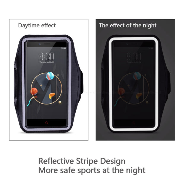 Running Cycling Sport Workout Phone Holder Bag Cover For ZTE Nubia X Z17S Z17 Lite Z18 V18 Z11 Max Z9 Mini S MiniS Arm Band Case