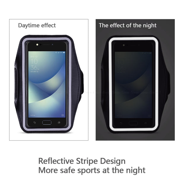 Running Gym Cycling Sport Phone Bag Cover For Asus ZenFone 4 Max Pro Plus ZS551KL ZC550KL ZC520KL ZC554KL ZE554KL Arm Band Case