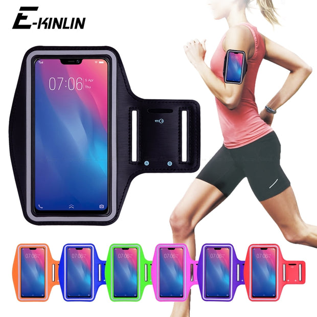 Running Gym Cycling Sport Phone Bag Cover For BBK Vivo V11i V11 Pro V9 Youth V7 V5 V5s V3 Max Z1i Z1 Plus Lite Arm Band Case