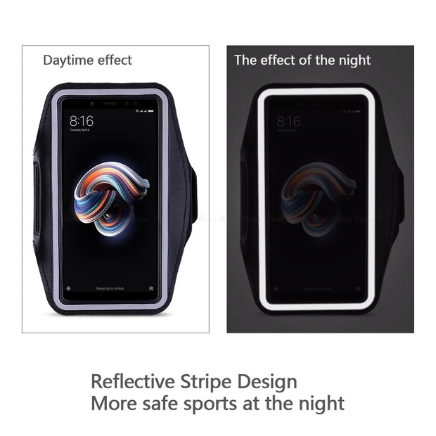 Running Gym Cycling Sport Phone Holder Bag Cover For XiaoMi Redmi Note 7 5 6 Pro AI S2 5A 6A Plus Prime Arm Band Case
