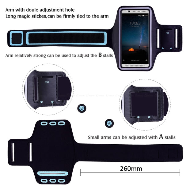 Running Gym Cycling Sport Phone Holder Bag Cover For ZTE Axon M 7 Mini Max 7S Zmax Pro Blade X7 V6 D6 S7 S6 Arm Band Case