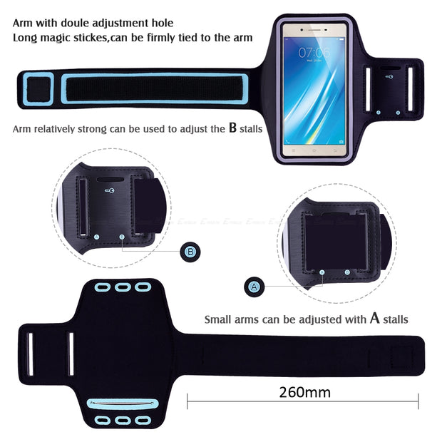 Running Gym Cycling Sport Workout Phone Holder Bag Cover For BBK Vivo Y37 Y35 Y33 Y31 Y25 Y51 Y53i Y53 Y55 Y55s Arm Band Case