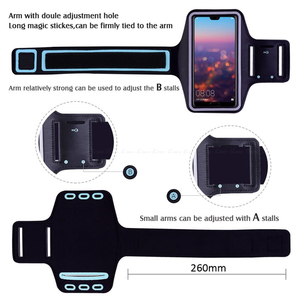 Running Gym Cycling Sport Workout Phone Holder Bag Cover For HuaWei P20 Pro P10 P9 Plus P8 Lite Mini 2016 GR5 2017 Arm Band Case