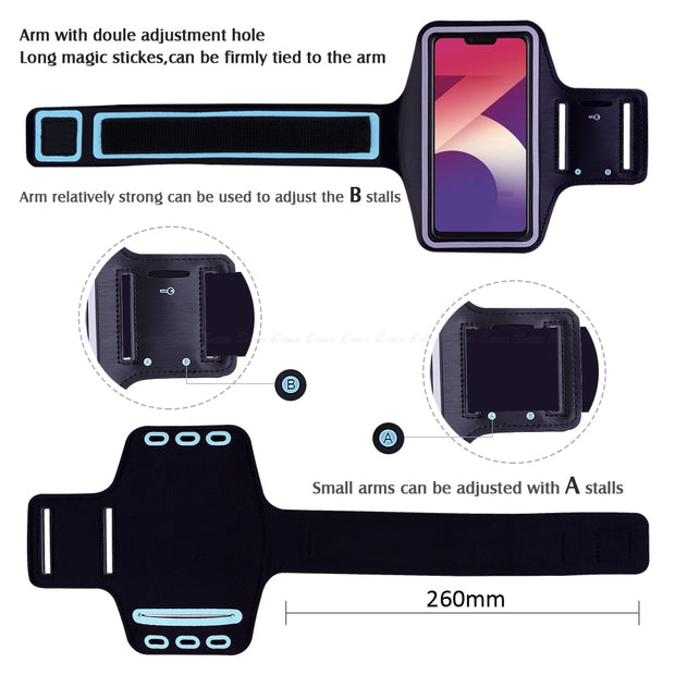 Running Sport Phone Bag Cover For Oppo A37 A39 A57 A59 A71K A71 A73 A73s A75 A77 A79 A83 2018 A1 A3s A3 A5 AX5 Arm Band Case