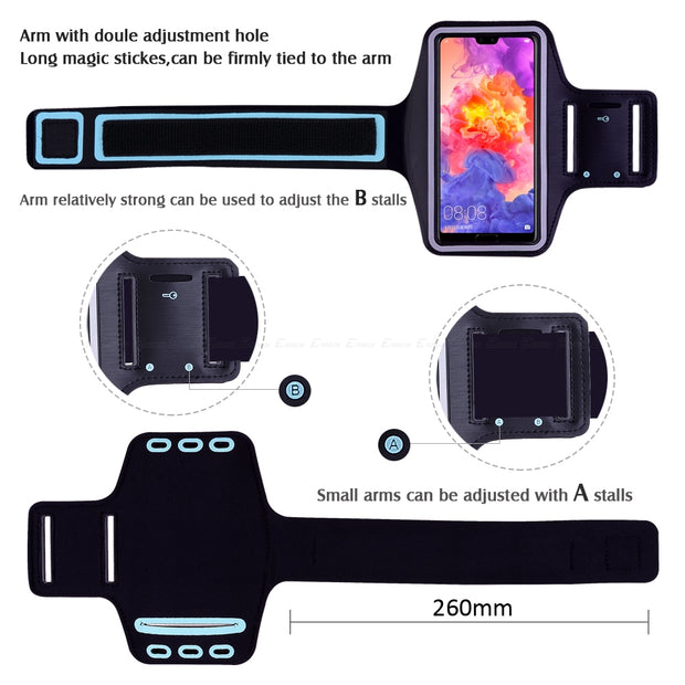 Running Sport Workout Arm Band Case Cover For HuaWei Honor View Note Mate 20 X RS 10 9 Nova 4 2i 3i 3 P Smart Plus P20 Pro Lite