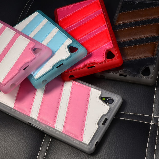 S-CH For Sony Xperia Z1 L39h C6902 Case Cover High Quality PU Leather Thin TPU Soft Case Back Cover Full Coverage