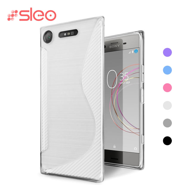 SLEO Soft Case For Sony Xperia XZ1 / XZ1 Compact Case TPU Silicon Slim Protect Skin Rubber Ultra Thin Phone Cover For Xperia Xz1